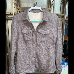 Quicksilver Sz Sm Sherpa Lined Snap Front Shirt